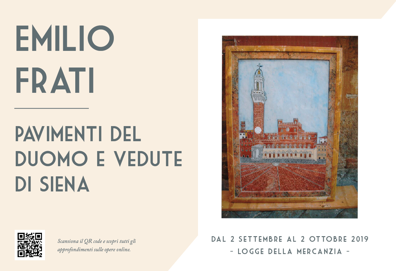 Emilio's exhibition, Small-scale reproduction of the marble Cathedral floor and Views of Siena